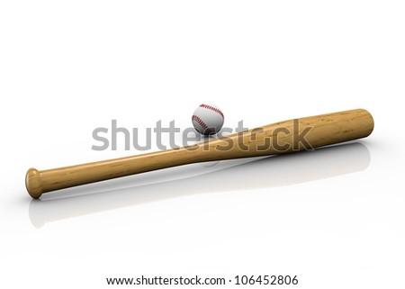 Baseball bat - stock photo
