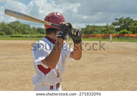 Baseball boy - stock photo
