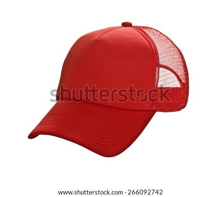Baseball Cap Red - stock photo