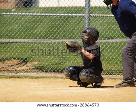 Baseball catcher - stock photo