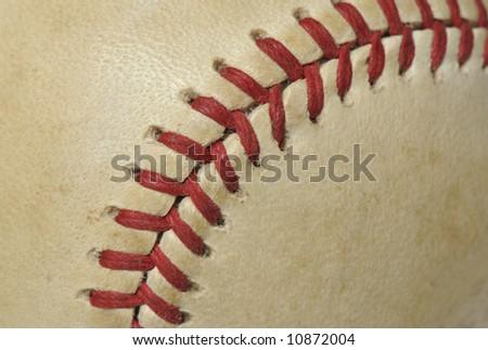 baseball close-up - stock photo