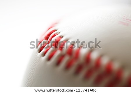 Baseball. close-up photo - stock photo
