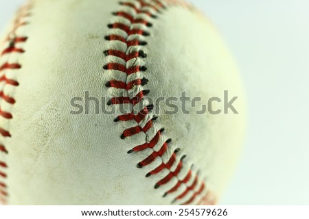 Baseball closeup - stock photo