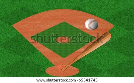 Baseball diamonds - stock photo