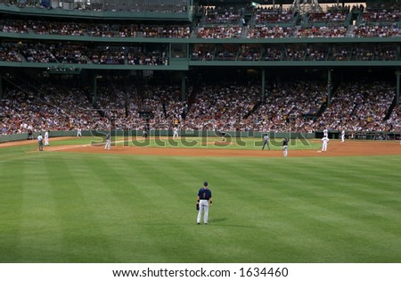baseball game - stock photo