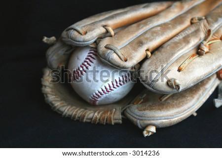 Baseball Glove and Baseball - stock photo