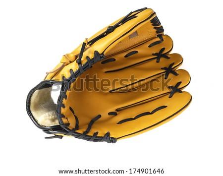 Baseball glove without ball - stock photo