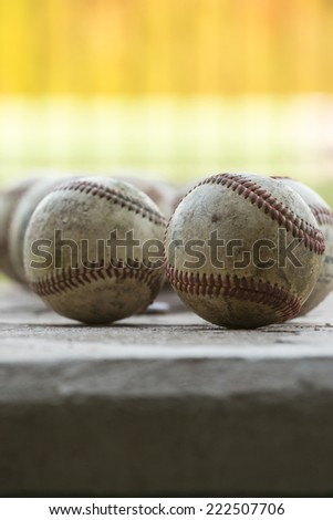 Baseball - in front - stock photo