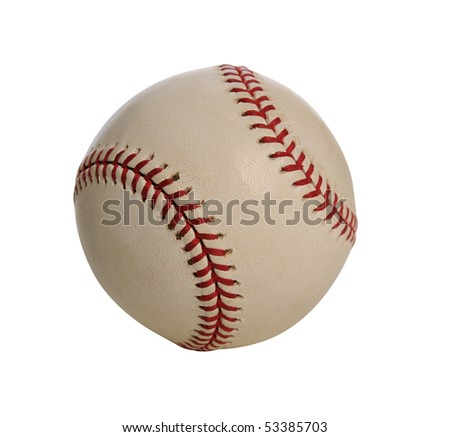 Baseball isolated over white background - With clipping path - stock photo