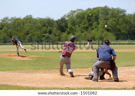Baseball match - stock photo