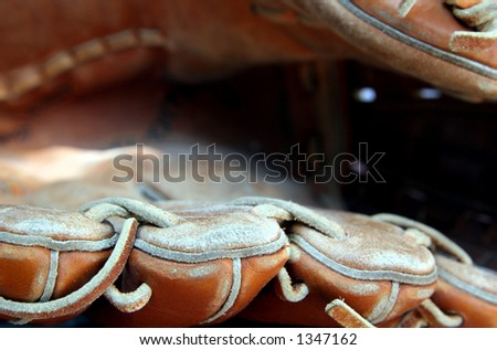 Baseball mitt/glove - stock photo