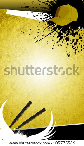 Baseball objects and space on grunge Abstract graphic Background - stock photo