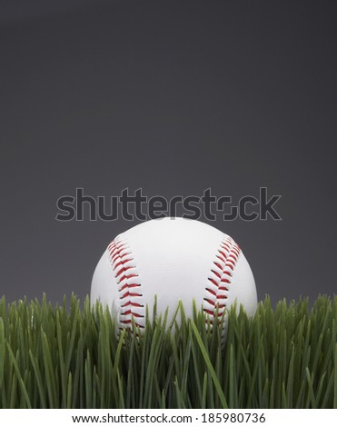 Baseball on Grass