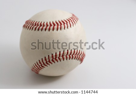 Baseball on white