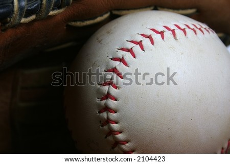 Baseball or Softball Close Up - stock photo