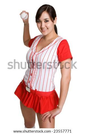 Baseball Player Throwing Ball - stock photo