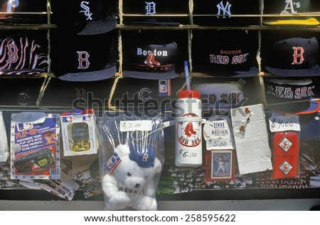 Baseball Souvenirs, Fenway Park, Boston, Massachusetts - stock photo