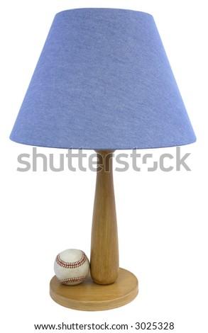 Baseball Themed Youth Bedroom Table Lamp - stock photo