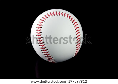 Baseball with brown background - stock photo