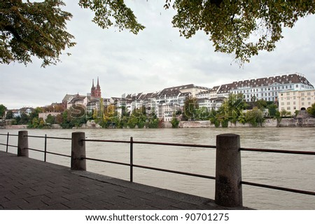 Basel - city on the river Rhine, Switzerland - stock photo
