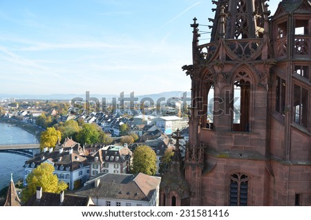 Basel from top - stock photo