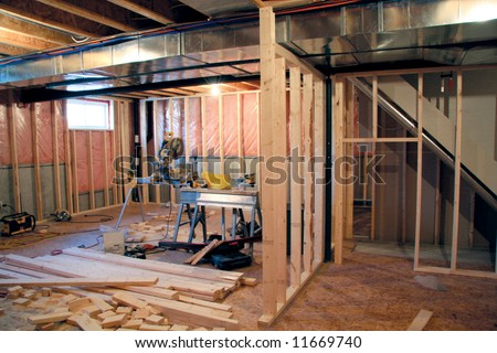 Basement Renovation Stock Images RoyaltyFree ImagesVectors