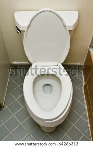 basic American toilet - stock photo