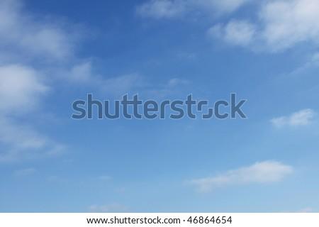 Basic blue sky background - stock photo