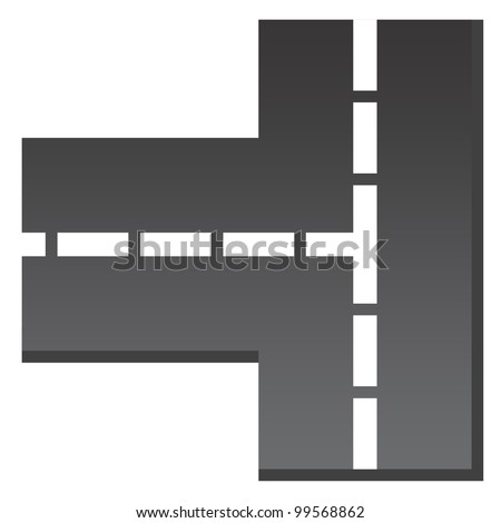 Basic Crossroad Icon - stock photo