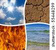 basic elements of nature - stock photo