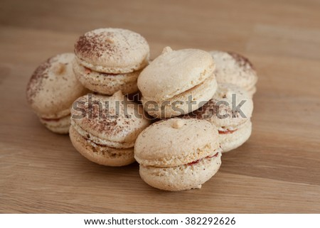 Basic french macaron - stock photo
