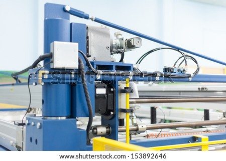 basic systems of the printing press, automatic, machine part - stock photo