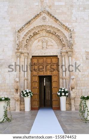 Basilica Cathedral of Conversano. Puglia. Italy. - stock photo