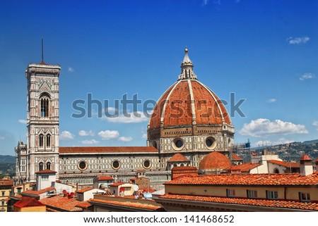 Basilica di Santa Maria del Fiore - The Duomo, Florence Cathedral - stock photo