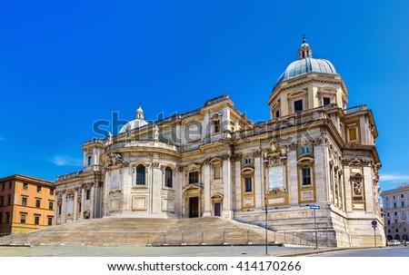 Basilica di Santa Maria Maggiore in Rome, Italy - stock photo