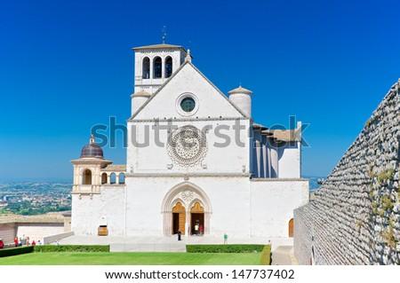 Basilica Of San Francesco, Assisi, Italy - stock photo