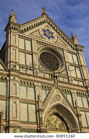 Basilica of Santa Croce (Temple of the Italian Glories), Florence - stock photo