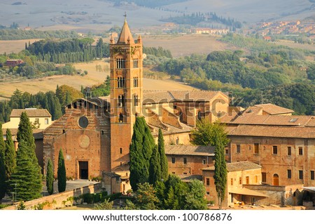 Basilica of Santa Maria dei Servi (siena toscana italy) - stock photo