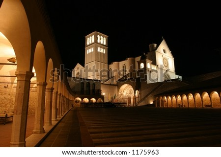 Basilica of St. Francis - stock photo