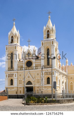 Basilica of St. Francis in Caninde, Ceara State, Brazil - stock photo