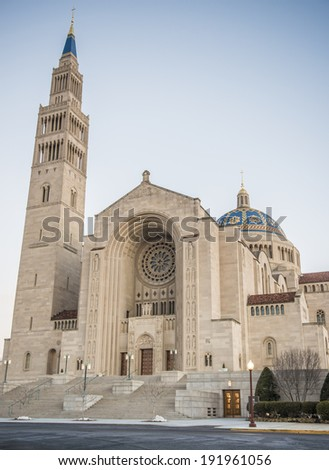 Basilica of the Immaculate Conception in Washington DC - stock photo