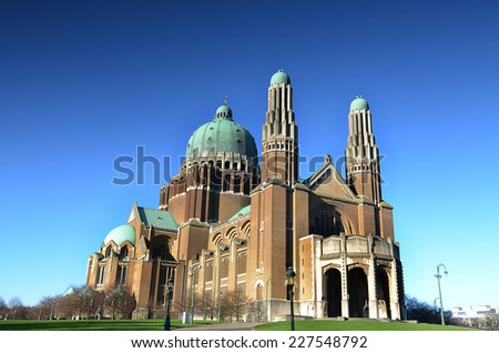 Basilica of the Sacred Heart, Brussels,Belgium - stock photo