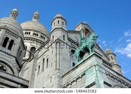 Basilica of the Sacred Heart, Sacr�© C��ur de Montmartre  (Paris France)   - stock photo