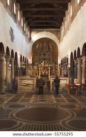 Basilica santa maria in cosmedin - rome - stock photo