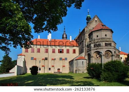 basilica st. Procopius Trebic - UNESCO world heritage, Czech republic - stock photo