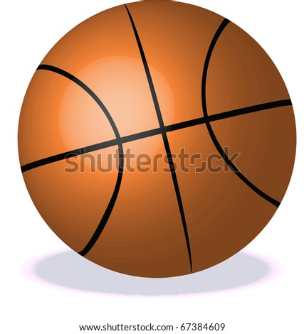 Basket Ball illustration - stock photo