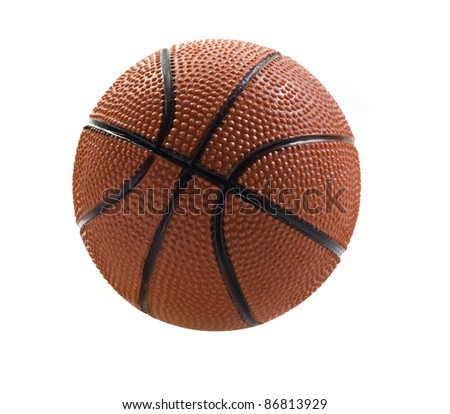 Basket ball isolated on white  with space for text - stock photo