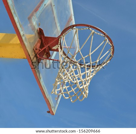 basket empty net sky