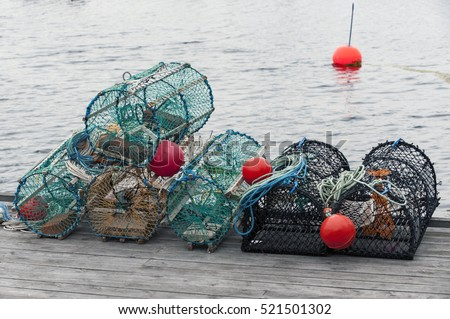 Basket fish traps to catch crab and lobster
