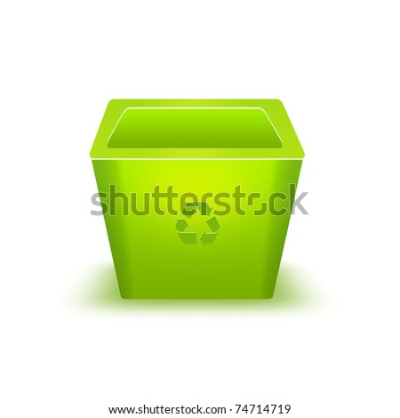 BASKET FOR GARBAGE ON  WHITE BACKGROUND